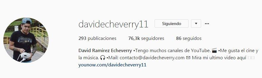 @dvdecheverry Siguiendo ✔️