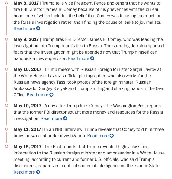 Trump revealed highly classified information to Russian foreign minister and ambassador. Our updated Trump timeline: https://t.co/kIsj4vBspJ