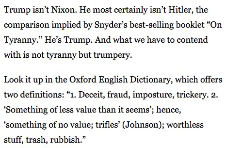 This isn't tyranny — it's Trumpery: https://t.co/rn9uHonga8 via @BostonGlobe https://t.co/Af6KvBrRfj