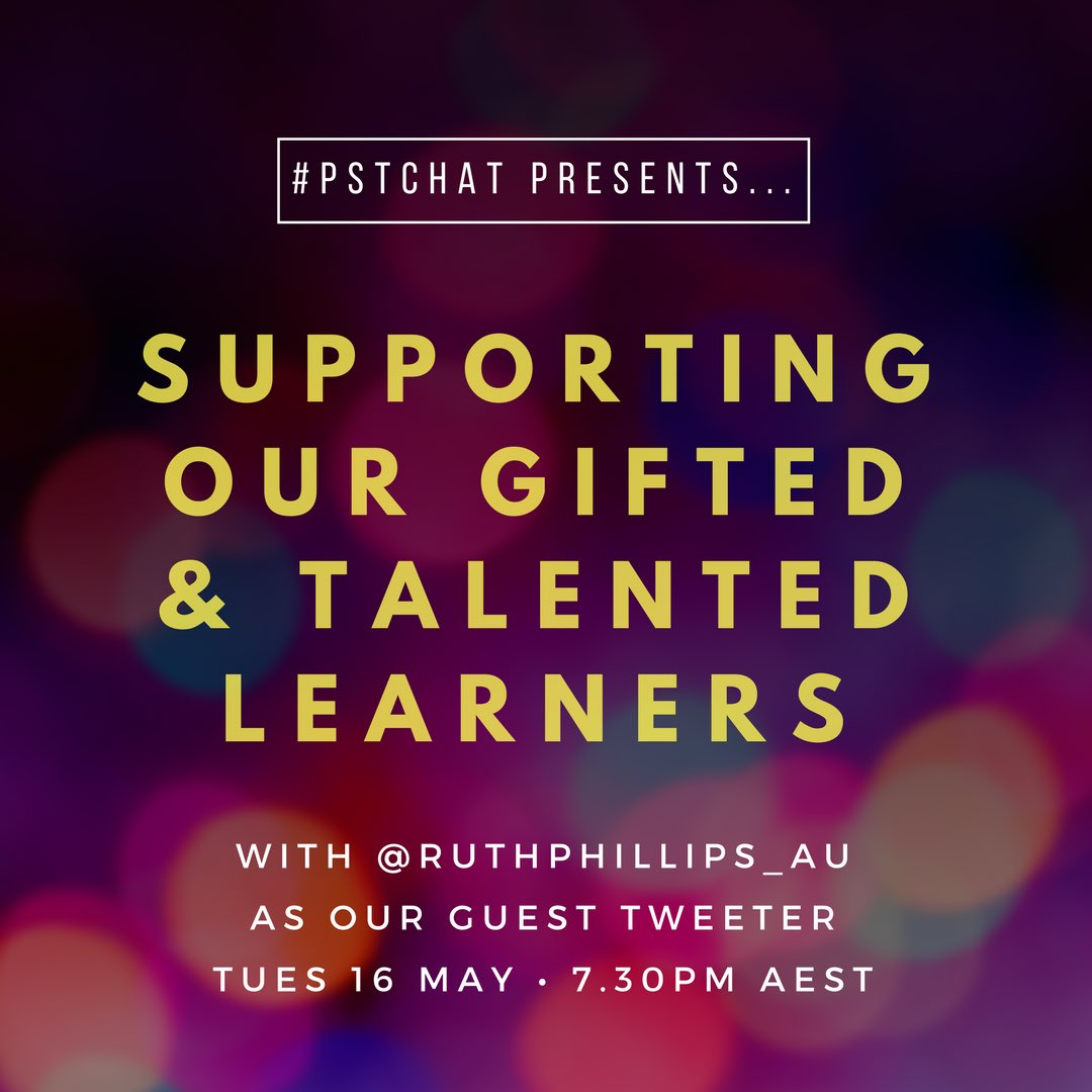 Thumbnail for #pstchat Gifted & Talented Learners