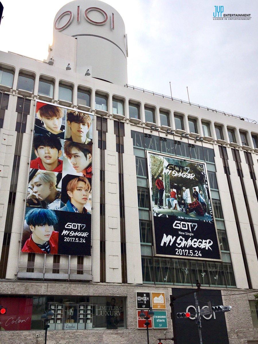 ついに5/24(水)発売 GOT7 New Single「MY SWAGGER」の大型ボードが渋谷に登場しました!揺るがないGOT7の魅力が感じられる作品となりましたので楽しみにしてください♪  got7japan.com  #GOT7 #MYSWAGGER