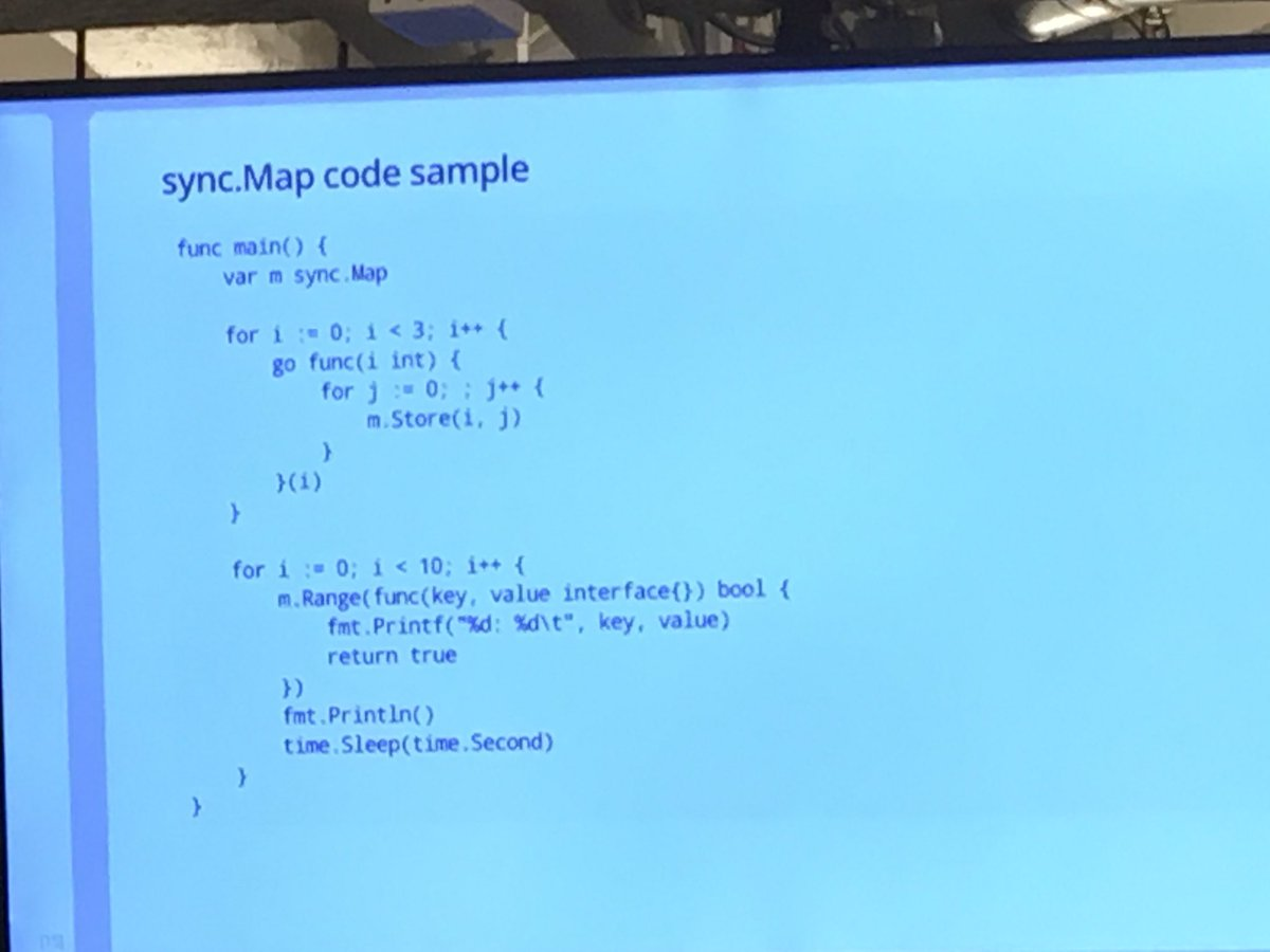 cindy sridharan on twitter also upcoming in golang   sync  - cindy sridharan on twitter also upcoming in golang   syncmap francesc at gopherfest…