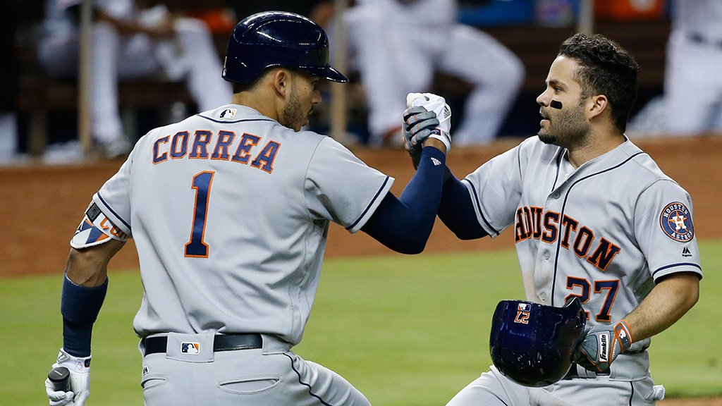 .@MLB's best record?  That would be the @astros at 27-12: https://t.co/y6FvEtrV9w