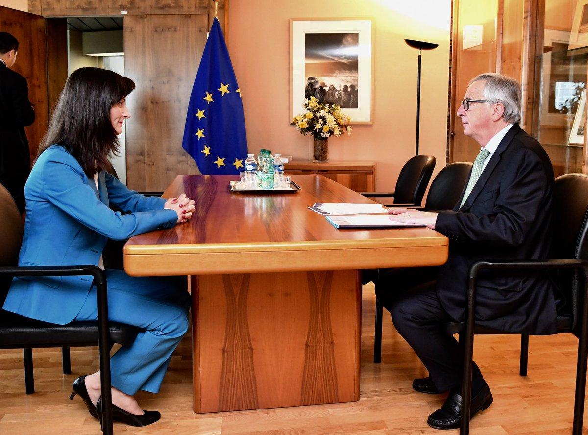 Резултат с изображение за mariq gabriel and junker europa.eu