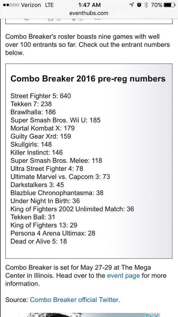 COMBO BREAKER on Twitter: \