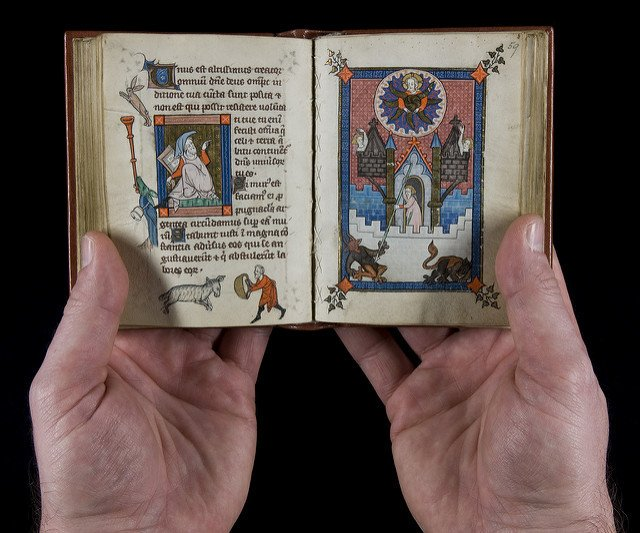The Rothschild Canticles (13th century), is remarkable for its full-page miniatures and historiated initials. 📷Beinecke Library.