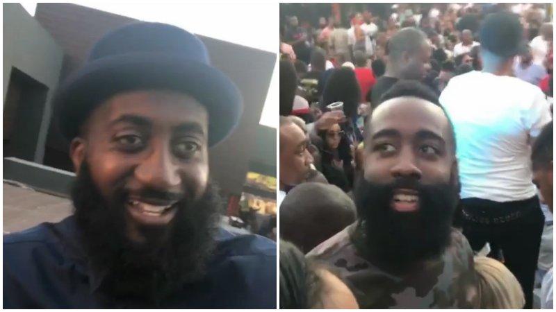 【影片】真假大鬍子?當Harden遇到他「雙胞胎弟弟」那一瞬間…