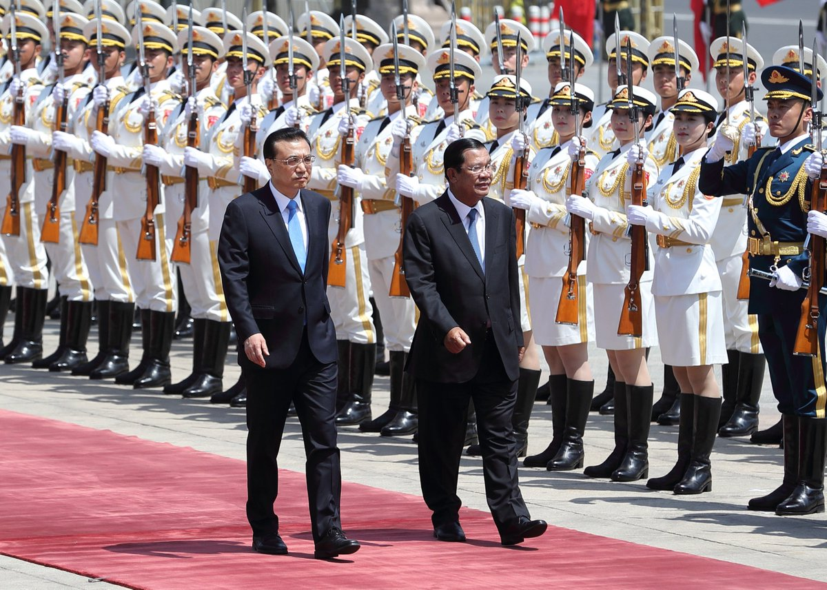 Premier Li Keqiang holds welcome ceremony for visiting Cambodian PM Hun Sen in Beijing