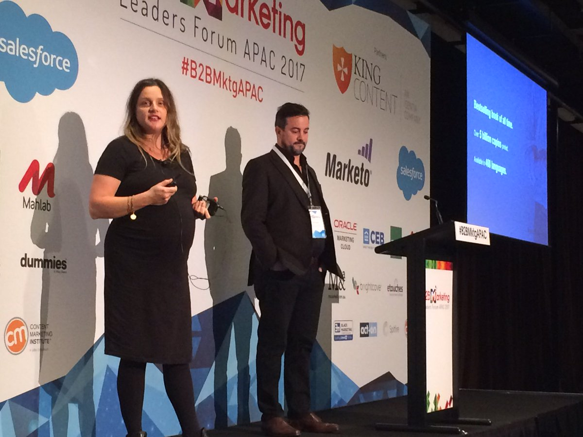 The Greatest Content Strategy Ever? @_jumpshot and @Philba333 from @King_Content hit the stage #B2BMktgAPAC https://t.co/f7GiWJsAr0