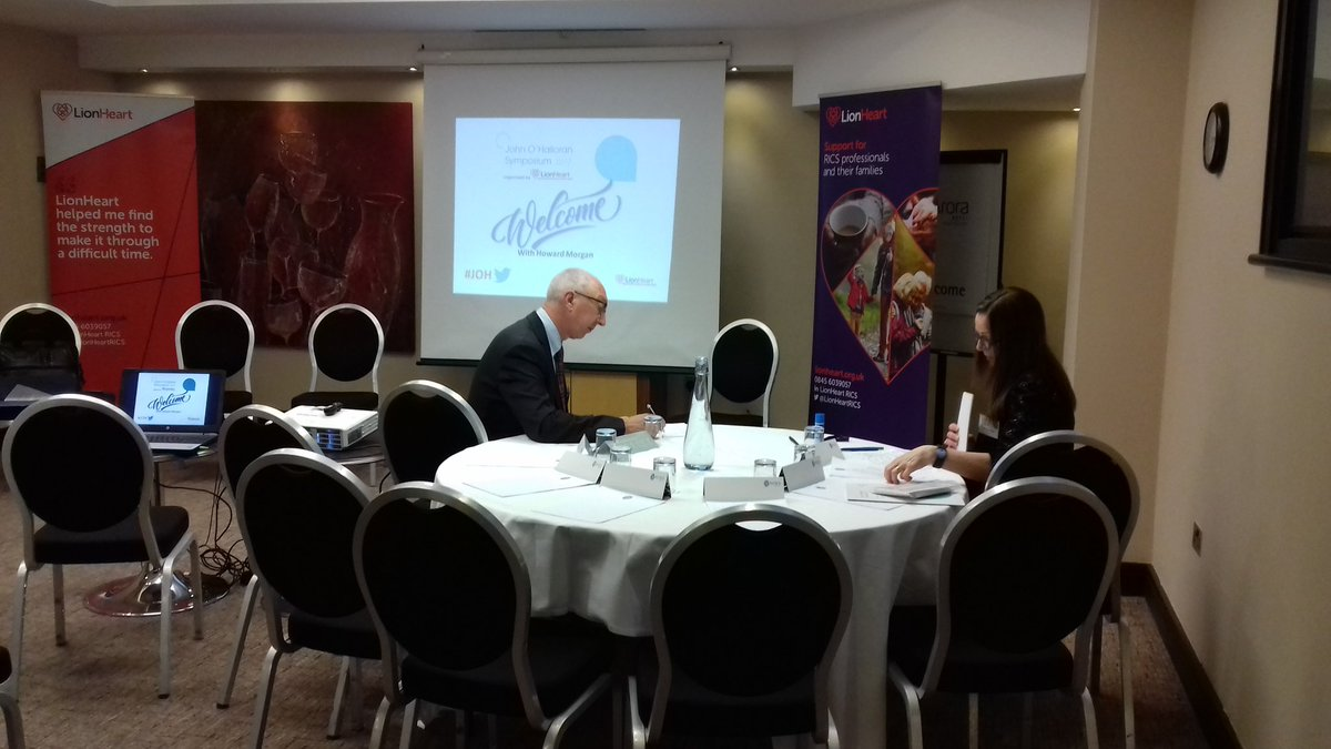 RT @LionHeartRICS Final tweaks before the John O'Halloran symposium begins in Manchester.  #JOH