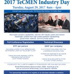 #TeCMEN Industry Day 8/29/17: Exhibit-Network-Attend-Learn @FloridaSBDCN @FloridaWestEDA @CITGulfCoast @InnovationCoast @tech_farms @FGNW