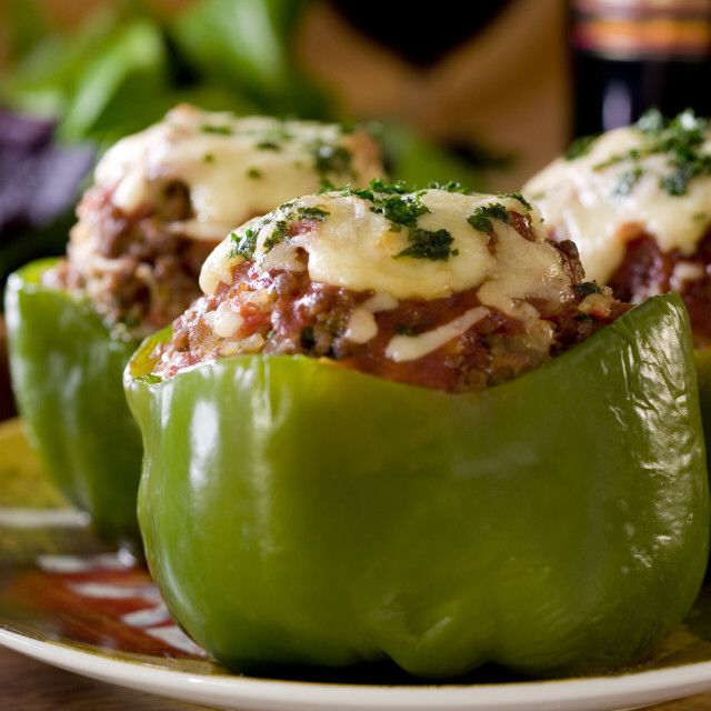 Slimming World Big Mac Stuffed Peppers In The Slow Cooker