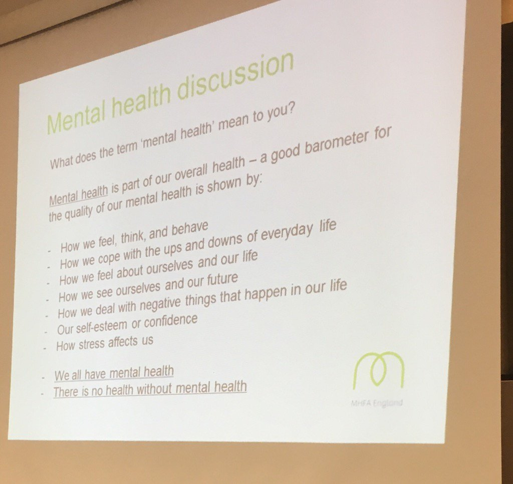 'There is no health without mental health' - why mental health first aid matters @MHFAEngland #joh