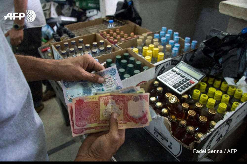 First post-IS liquor store in Iraq's Mosul doing brisk business after years of prohibition under jihadist rule https://t.co/SFS6f7gp0r