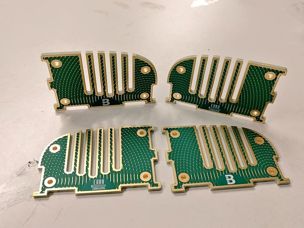 Woop. Prototypes for #BoldportClub project 'Spoolt' arrived! Thanks @eC_PCB.