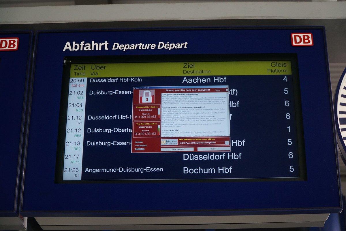ドイツ鉄道もランサムウェアに感染 https://t.co/2vtBPvbzKZ