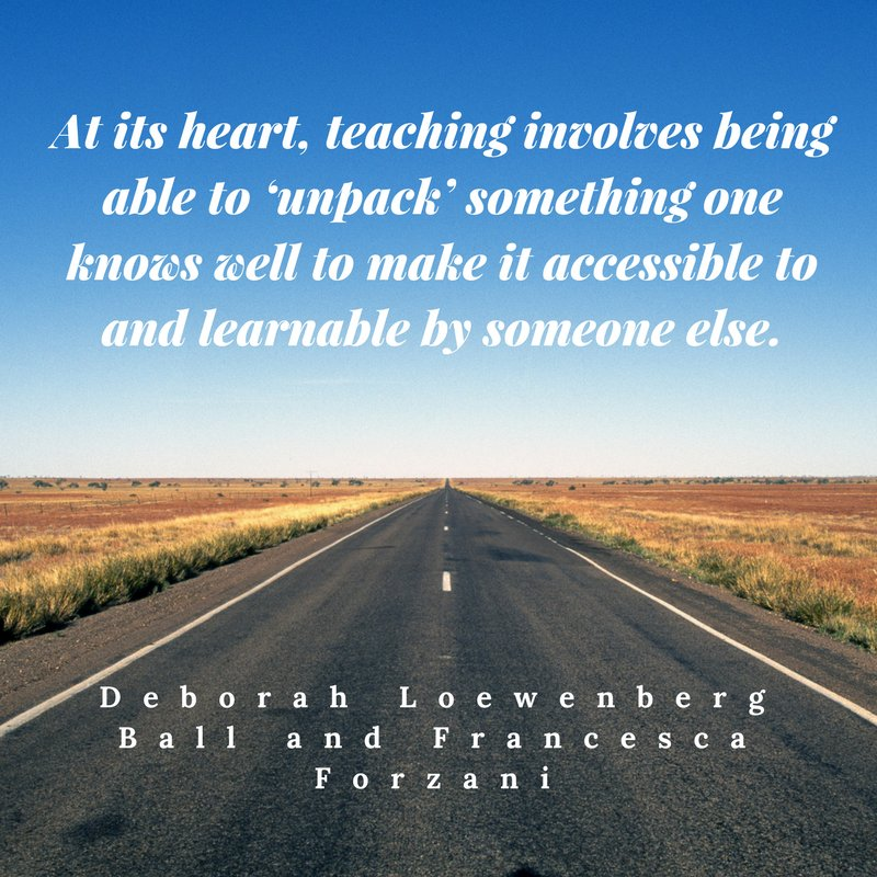 #teachers how are you &#39;unpacking&#39; learning for your students? #learning #instruction #quote #edchat #ohedchat<br>http://pic.twitter.com/g7L0aVs9AY