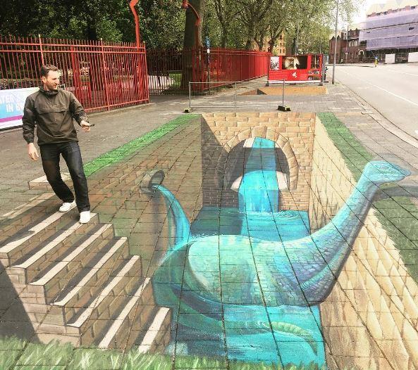 Wauw! Kom deze prachtige 3D tekening nu bewonderen bij ingang Valkenberg, J.F. Kennedylaan. Net echt! #wvow https://t.co/9Qy3OnR7bd