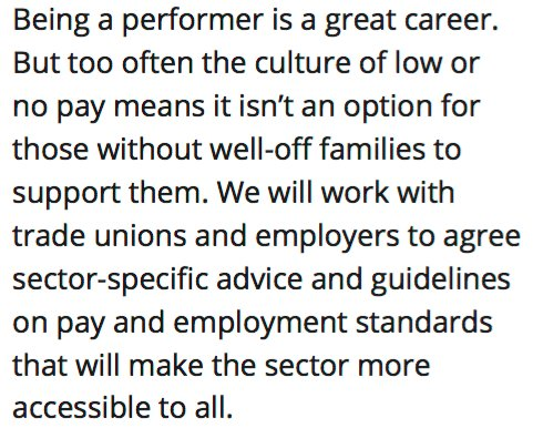 Labour also officially coming out against low pay, no pay for performers. https://t.co/vJMMcfNEHK