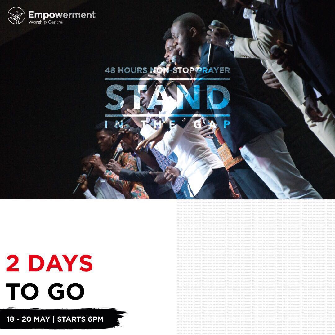 2 days more to the best prayer encounter. There must be an answer!!! https://t.co/T9Wd4cHFRw