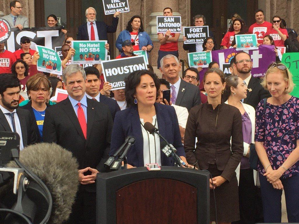 A majority of Austin City Council present to protest #SB4 https://t.co/60ADrPRHT0