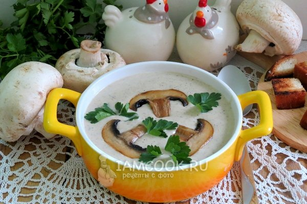 Суп пюре рецепт с грибами