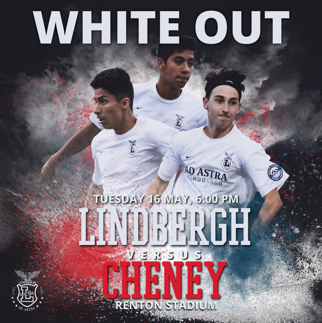 The state run begins tonight. Join us in a ⚪️White Out⚪️ as we face Cheney at Renton Stadium, 6:00.