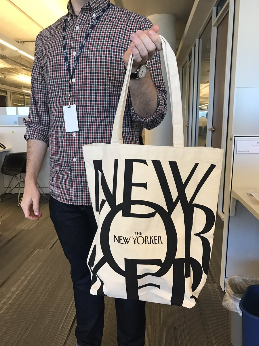 Sam Sanders On Twitter Closing The Loop This New Yorker Tote Bag Arrived My Colleague Is Pleased