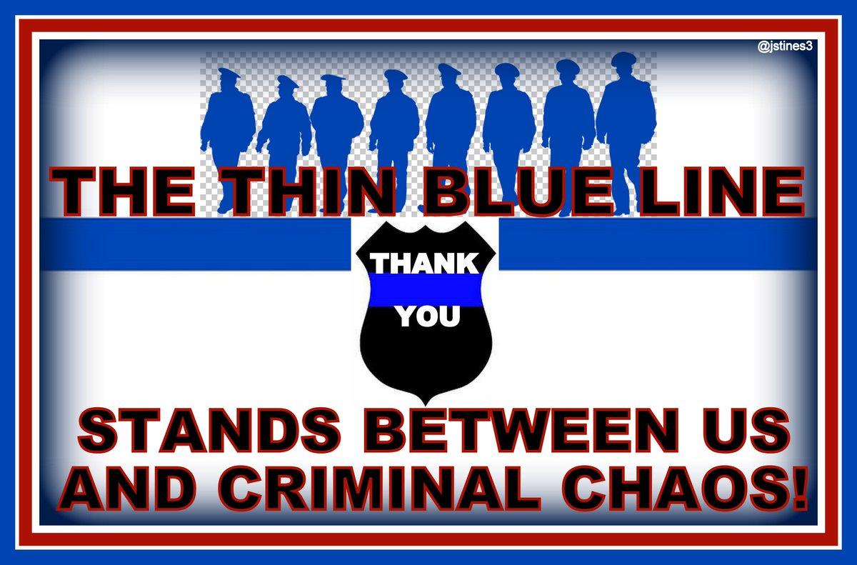 The #THINBLUELINE stands between us &amp; CRIMINAL ANARCHY!   #PJNET #BackTheBlue #BlueLivesMatter<br>http://pic.twitter.com/GK5l2m0EvT