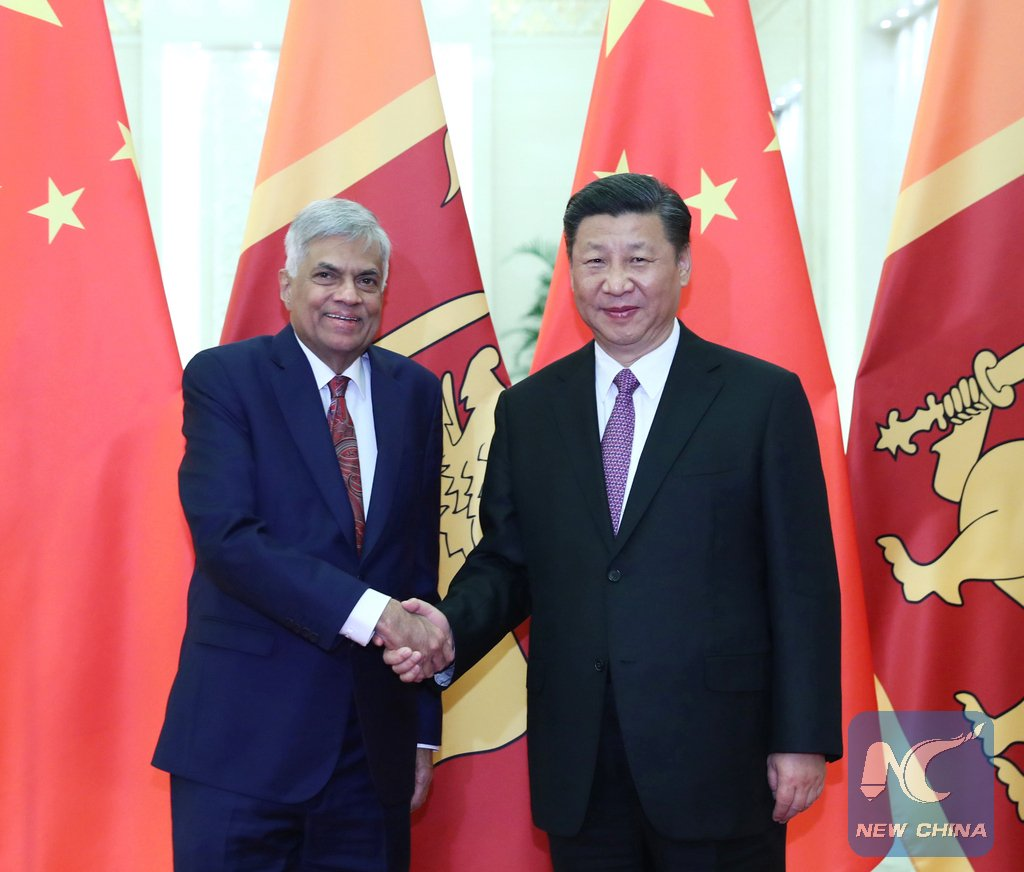 Xi calls for advancing China-Sri Lanka strategic cooperative partnership