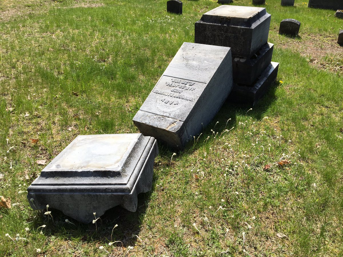 30 gravestones vandalized in #Malone cemetery - why police say social media helped find suspects tonight on @MyNBC5<br>http://pic.twitter.com/JwSZfwIWlj
