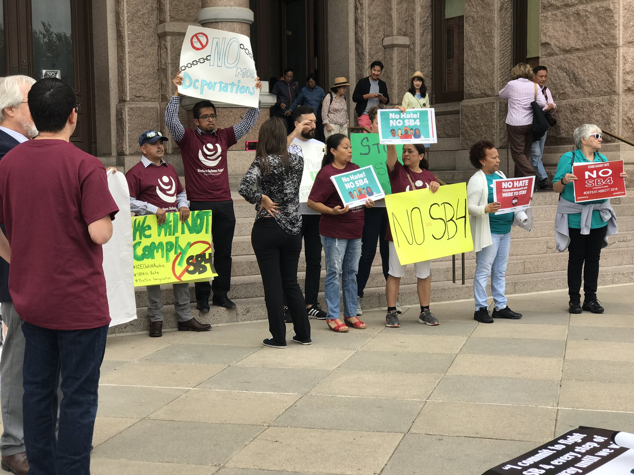 Texas will remain united against hate. We will continue to fight against SB4!  #SB4IsHate #HereToStay https://t.co/KGJ0zBjJ0N