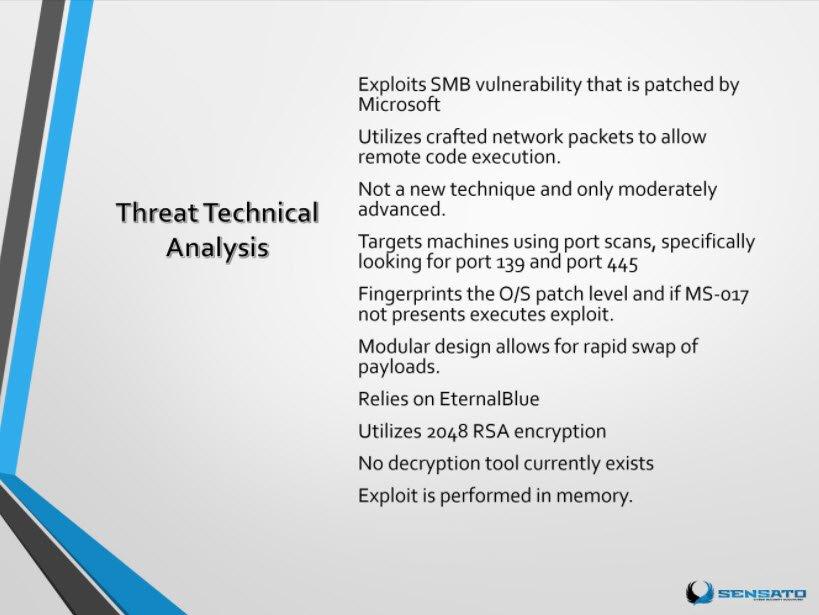 Threat Technical Analysis of #WannaCry attack  #HIStalk https://t.co/STq7gBtIfb