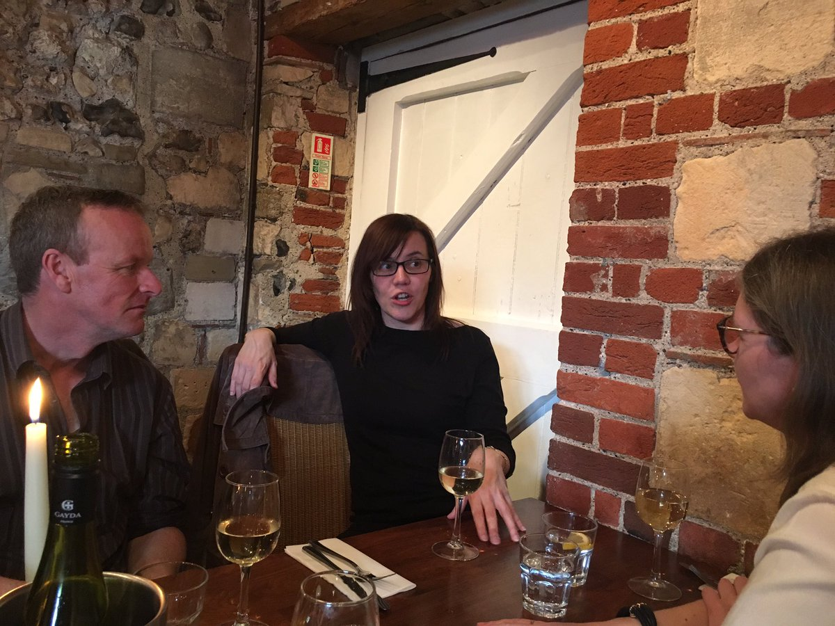 .@JulieEBayley enthralling @frootle and Hanne from SDU the night before @impactATKent #ImpactATKent and some other people too <br>http://pic.twitter.com/BHXk0zmg2w