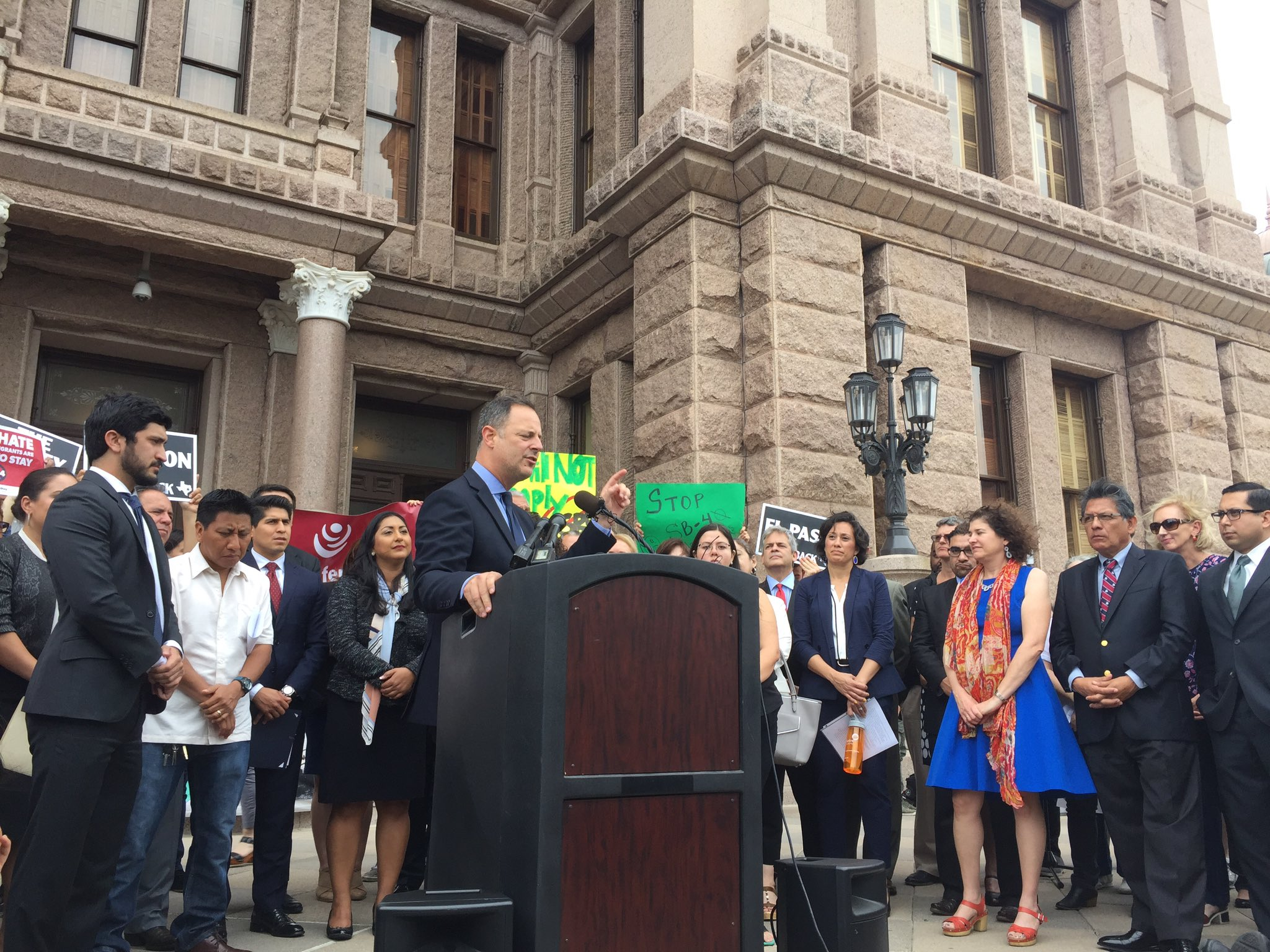 """.@RafaelAnchia #SB4 is """"about conflating immigrants w criminality, lawlessness for political gain"""" #txlege https://t.co/zWVTq3P5Eu"""