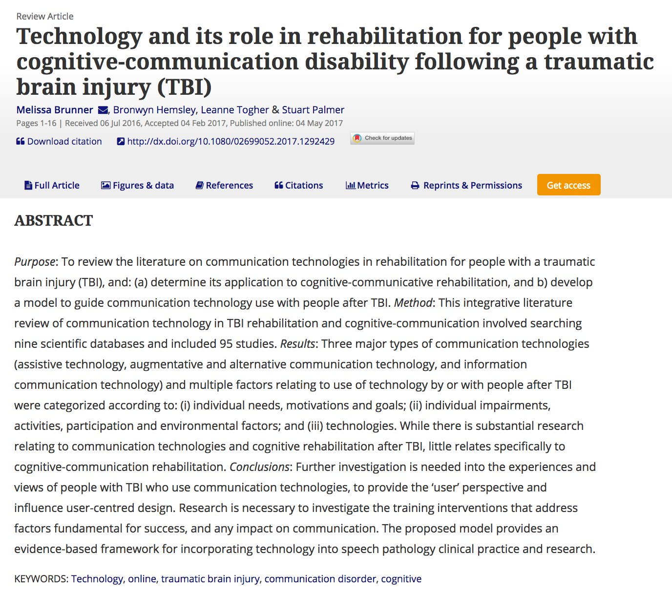 I've got 50 free online copies of our tech in rehab after #TBI article to share #WeSpeechies #slpeeps #slp2bs: https://t.co/QN9HHd1Jcr https://t.co/ViDKoHfI7a