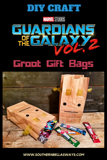 DIY Guardians of the Galaxy Groot Gift Bags