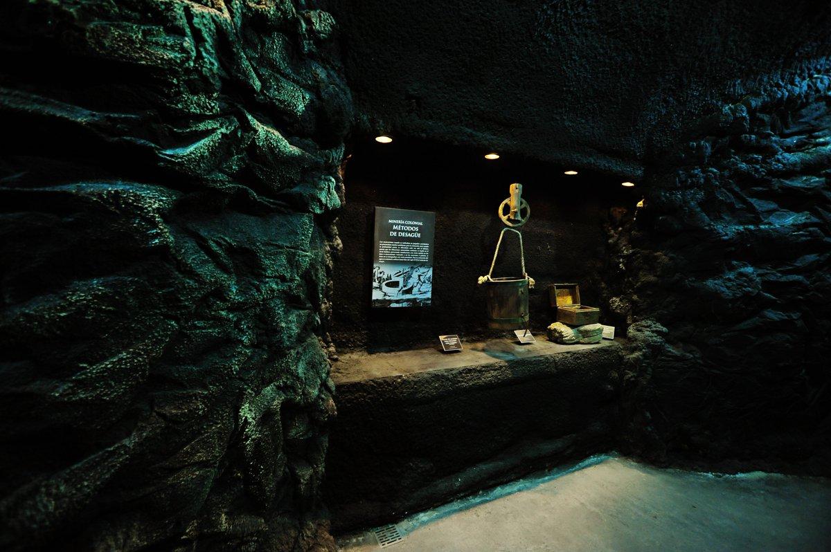 interior del museo túnel de Minería