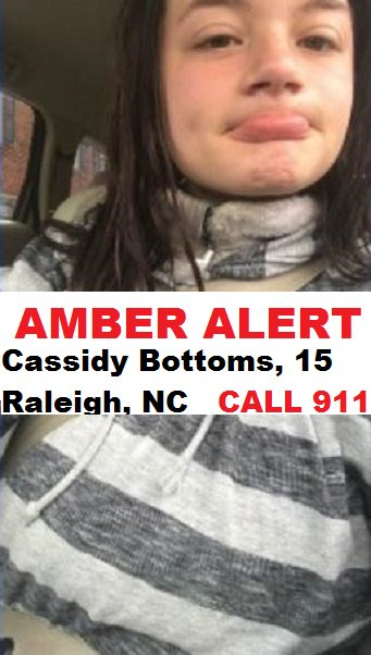 AMBER ALERT: Abducted by two males: Cassidy Bottoms, 15 https://t.co/3Fo89TDZpq https://t.co/od72SPMluJ