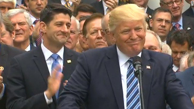 Donald Trump and Republicans just celebrated voting to let thousands of Americans die so that billionaires get tax breaks. Think about that.