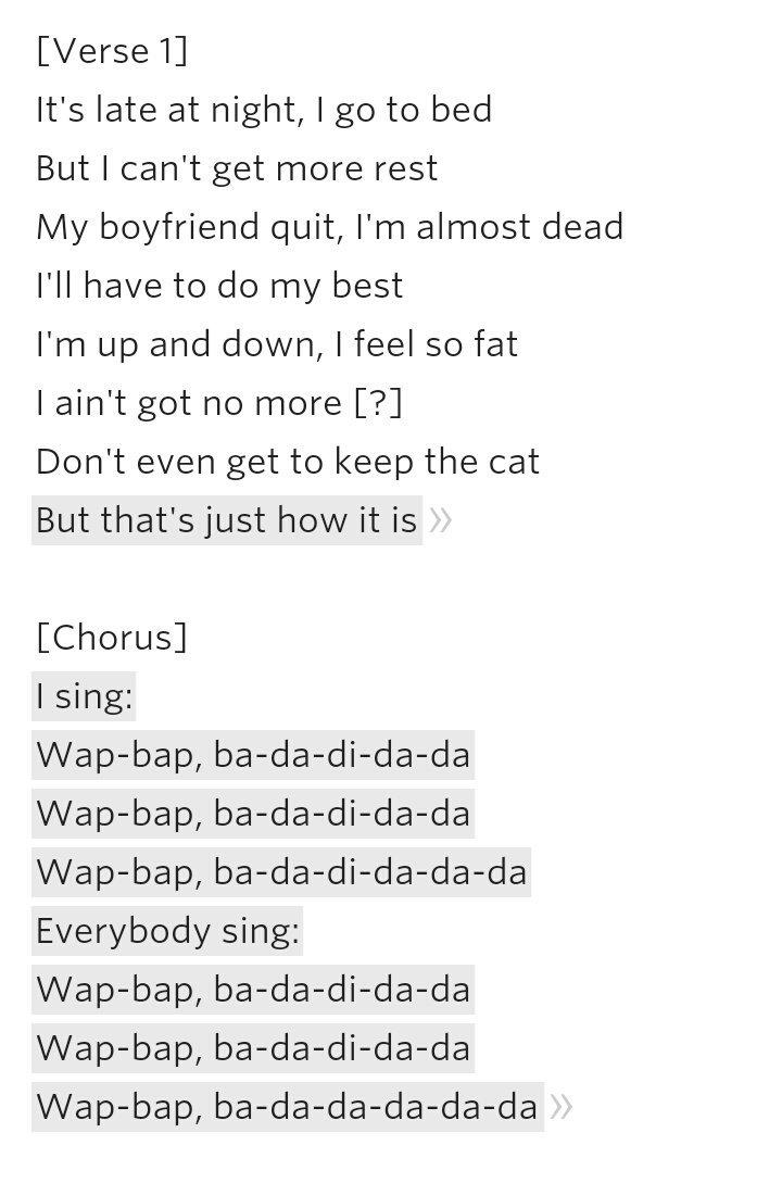 Goldseekälbchen On Twitter Songtext Zu Bibis Song How It Is Wap