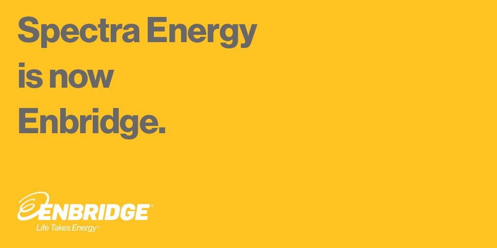 Spectra is now Enbridge. Follow @Enbridge to learn more about how we fuel your quality of life. https://t.co/tJ8NGnd844