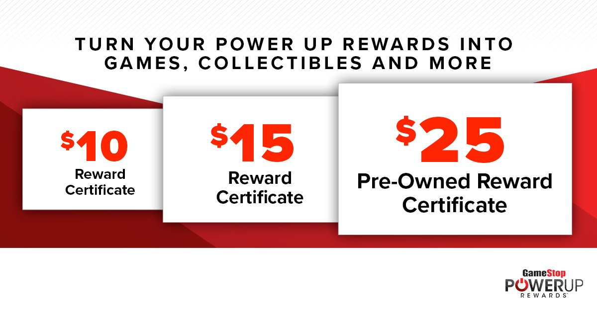 Gamestop On Twitter Turn Your Points Into Rewards Certificates To