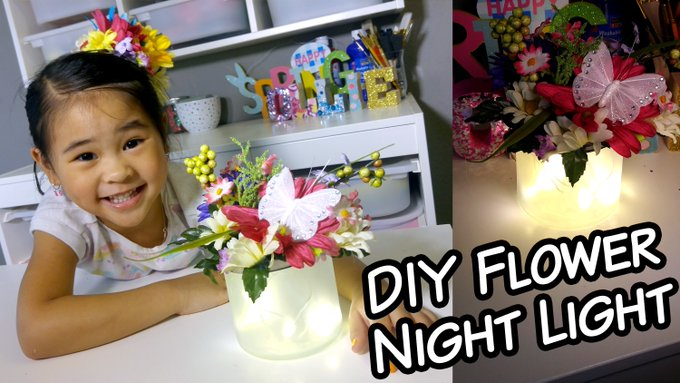 DIY LED Flower Night Light