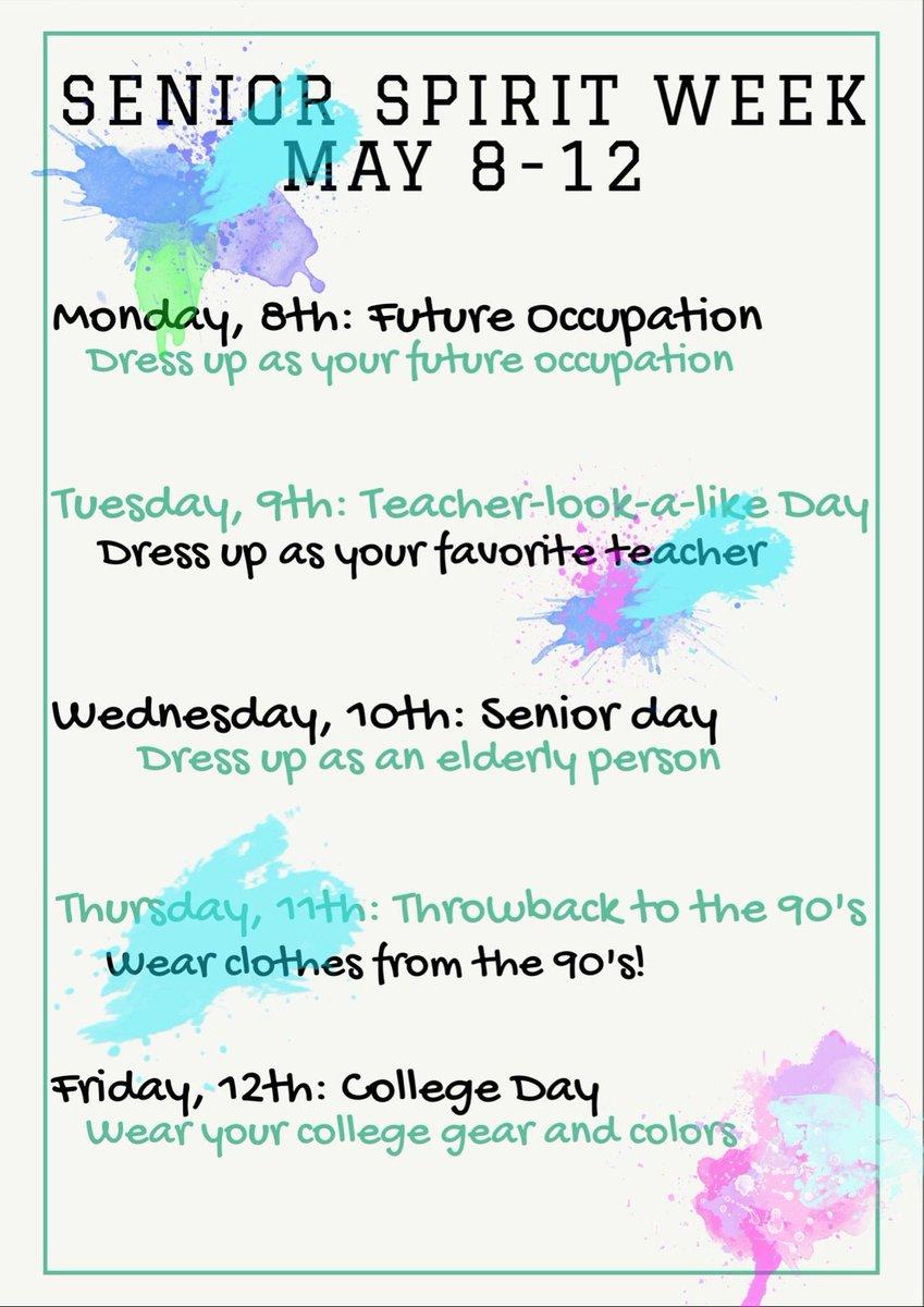 "oñate stuco on twitter: ""seniors! one more full week of high school"