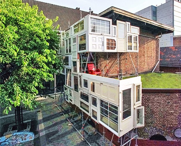 This Amazing Urban Treehouse Made From Windows And Doors Is Open To Everyone Https