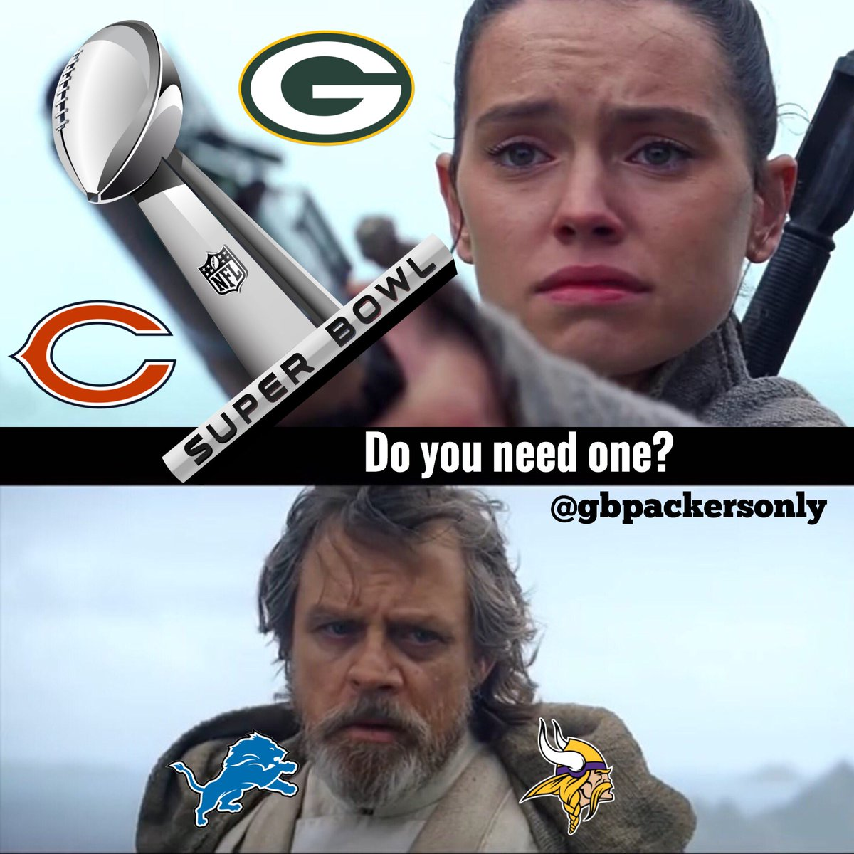 Nick On Twitter Maythefourthbewithyou Meme Nflmemes Packers Starwars Greenbaypackers Nfl Football Sports Memes Bears Vikings Lions Nfcnorth Https T Co Sh4whwzatc
