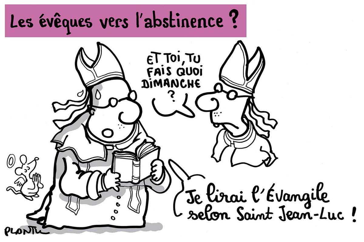 PRESIDENTIELLE: L'EGLISE NE PRENDRA PAS POSITION.  Le dessin dans Le Monde daté 4 mai.