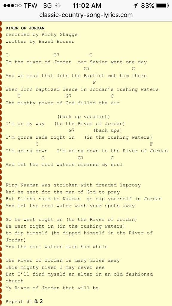 Im going down to the river lyrics
