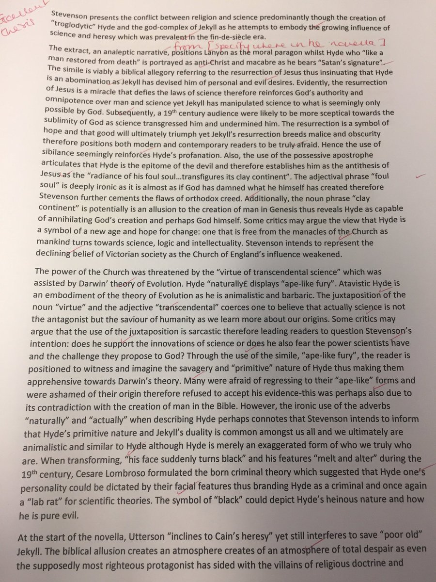 Thesis Persuasive Essay Essay On Dr Jekyll And Mr Hyde Surely This Would Get A  Teamenglish  Dtajthompson Hard Work Httpstcounzssv Business Essay Format also Example Of Essay Writing In English Natalie Brookshaw On Twitter Simply Wonderful   Essay On Dr  E Business Essay